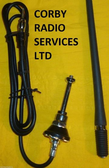 HGV CAR ANTENNA REPLACEMENT WHIP & CABLE  FOR FM AND AM STEREO